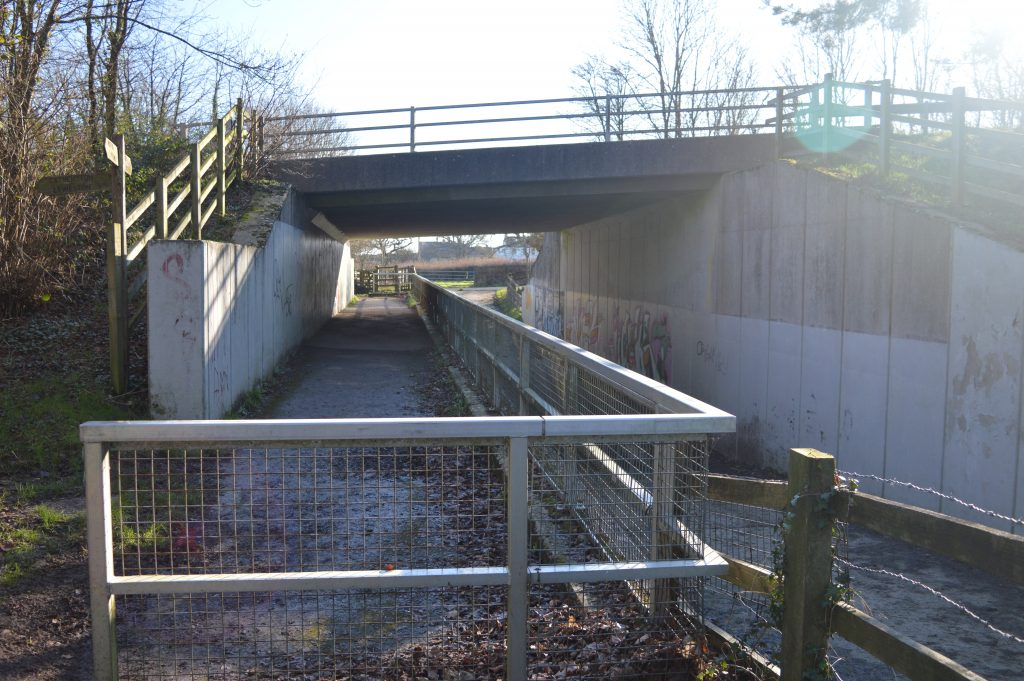 Through the underpass