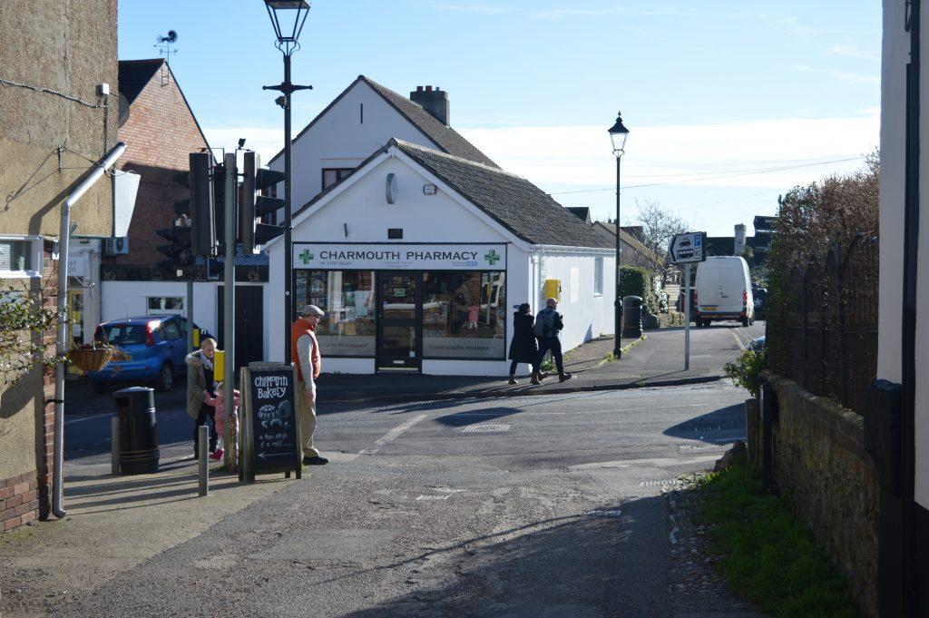 Onto Charmouth High Street