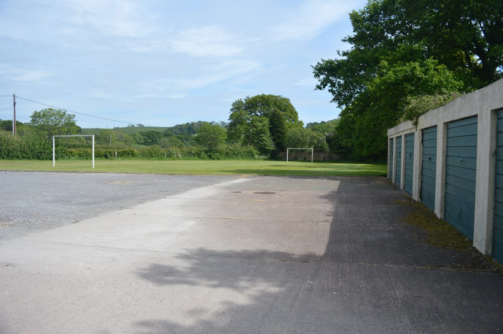 The village playing field, which visitors are welcome to use.