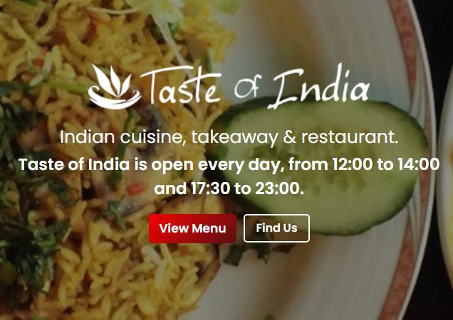 Taste of India, Lyme Regis